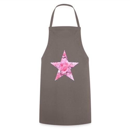 Stern und Rosen - Kochschürze