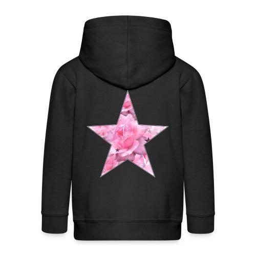 Stern und Rosen - Kinder Premium Kapuzenjacke