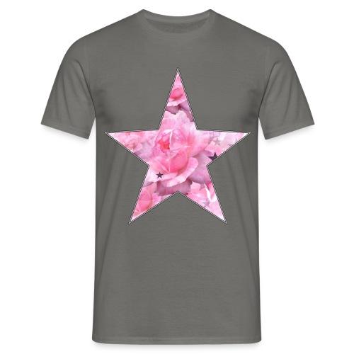 Stern und Rosen - Männer T-Shirt