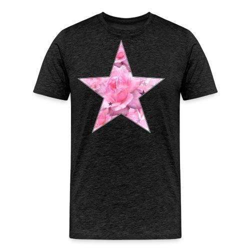 Stern und Rosen - Männer Premium T-Shirt