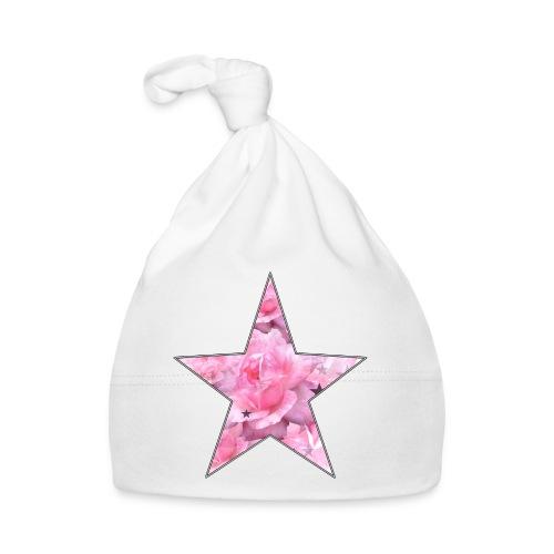Stern und Rosen - Baby Mütze
