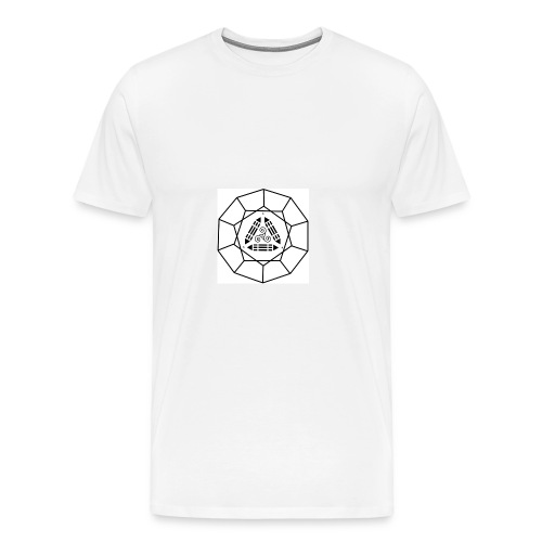 Tshirt B&C blanc ScapJM1noir poitrine - T-shirt Premium Homme