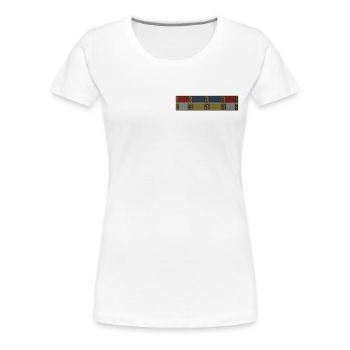 Baseball-T-Shirt mit Ordensband - Frauen Premium T-Shirt