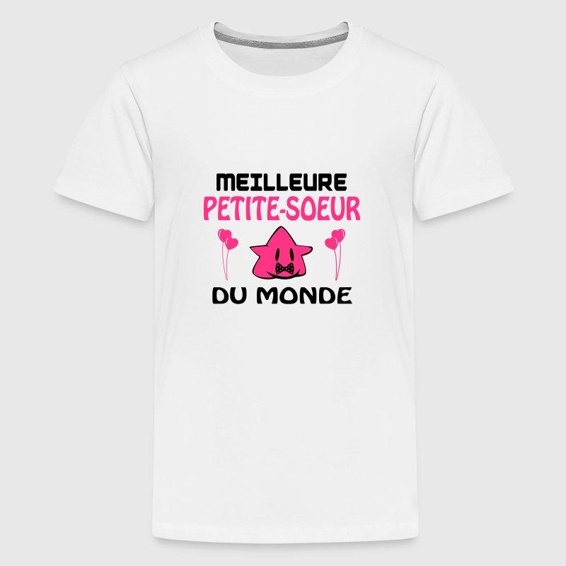 Meilleure petite-soeur du monde Tee shirts - T-shirt Premium Ado