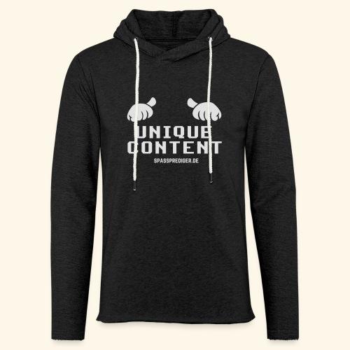 SEO-Shirt Unique Content - Leichtes Kapuzensweatshirt Unisex