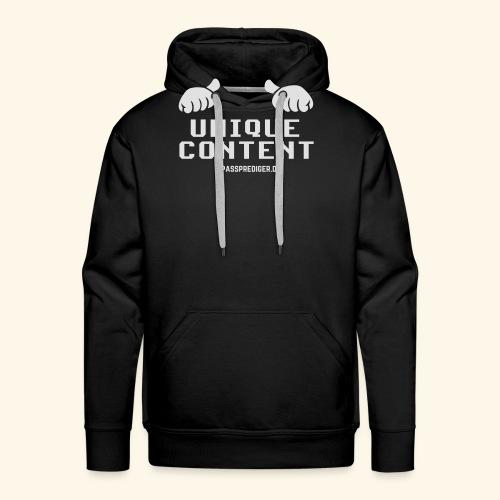SEO-Shirt Unique Content - Männer Premium Hoodie
