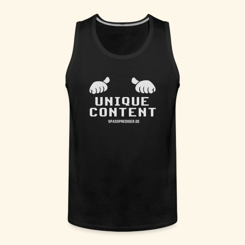 SEO-Shirt Unique Content - Männer Premium Tank Top