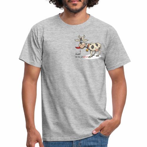 Halt. Kuh will beissen - Männer T-Shirt