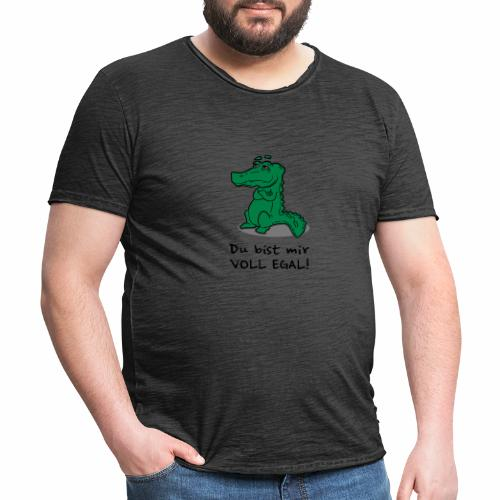 Du bist mir egal - Männer Vintage T-Shirt