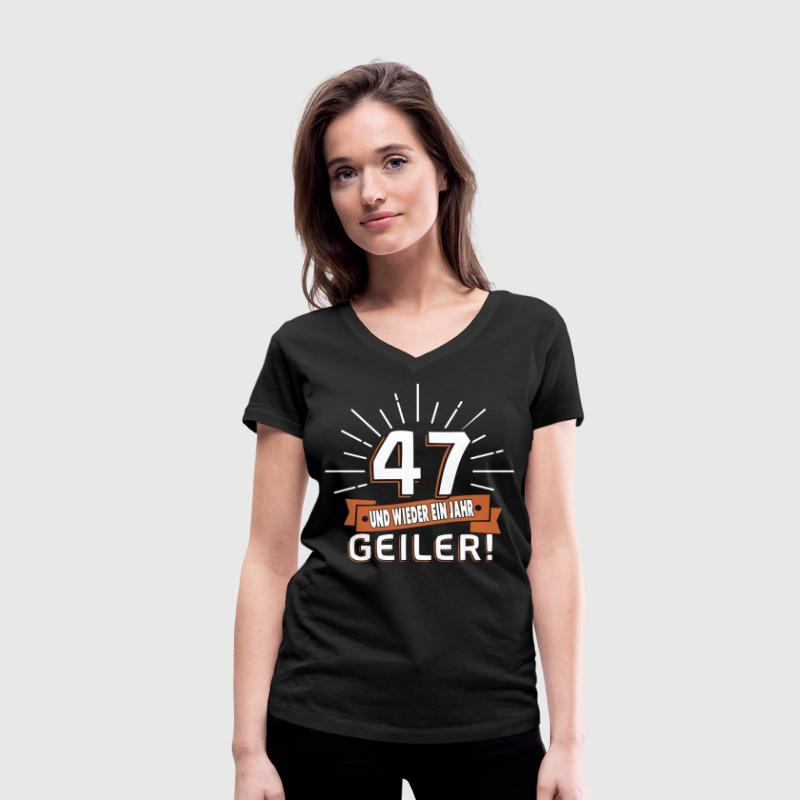 47. Geburtstag T-Shirts - Frauen Bio-T-Shirt mit V-Ausschnitt von Stanley & Stella