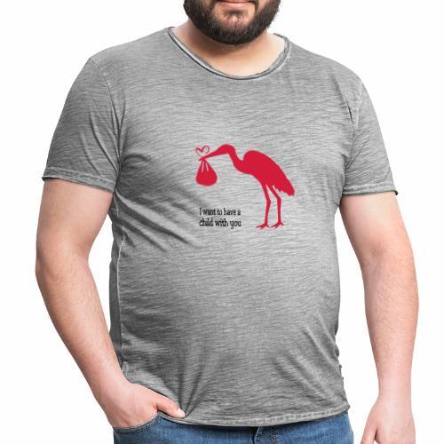 Ich will ein Kind von Dir. - Männer Vintage T-Shirt