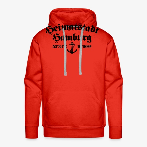 Heimatstadt Hamburg Koordinaten Anker Frauen T-Shirt - Männer Premium Hoodie