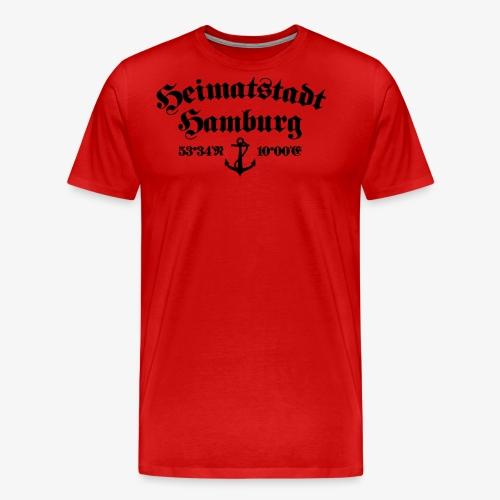Heimatstadt Hamburg Koordinaten Anker Frauen T-Shirt - Männer Premium T-Shirt