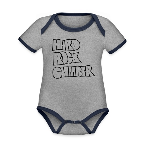 Hard Rock Climber Pullover & Hoodies - Baby Bio-Kurzarm-Kontrastbody