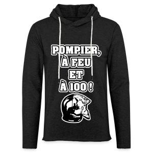 POMPIER, À FEU ET À 100 ! - JEUX DE MOTS - FRANCOIS VILLE - Sweat-shirt à capuche léger unisexe