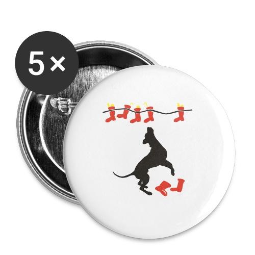 Nikolausdogge - Buttons mittel 32 mm (5er Pack)