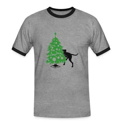 Baumdogge - Männer Kontrast-T-Shirt