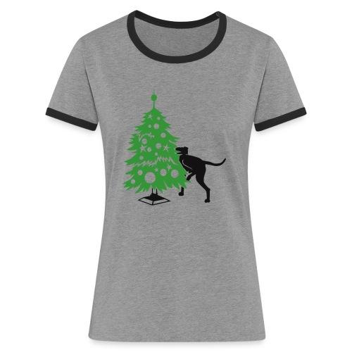 Baumdogge - Frauen Kontrast-T-Shirt