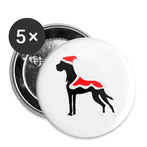 Weihnachtsdogge - Buttons groß 56 mm