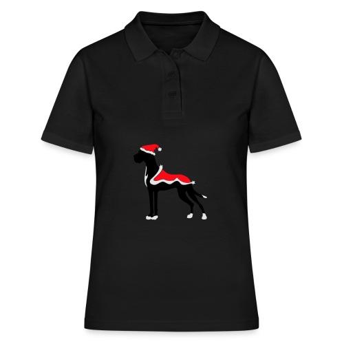 Weihnachtsdogge - Frauen Polo Shirt