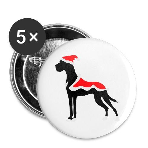 Weihnachtsdogge - Buttons klein 25 mm