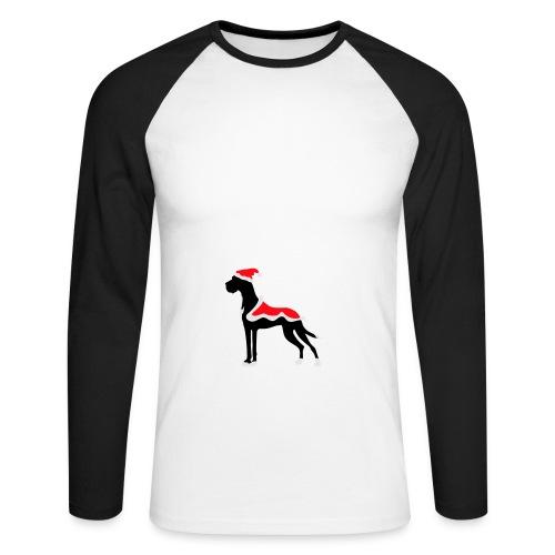 Weihnachtsdogge - Männer Baseballshirt langarm