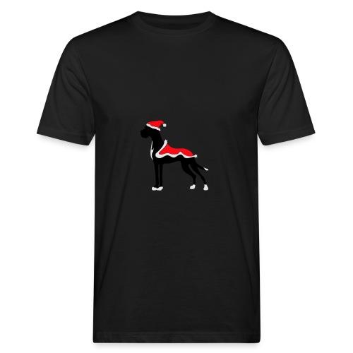 Weihnachtsdogge - Männer Bio-T-Shirt