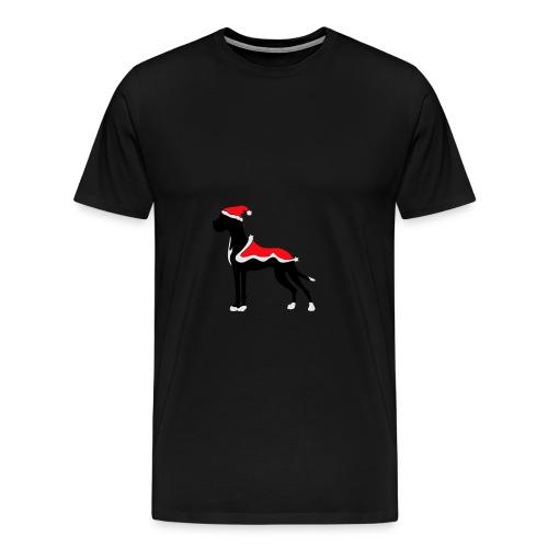Weihnachtsdogge - Männer Premium T-Shirt