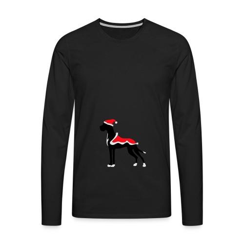 Weihnachtsdogge - Männer Premium Langarmshirt