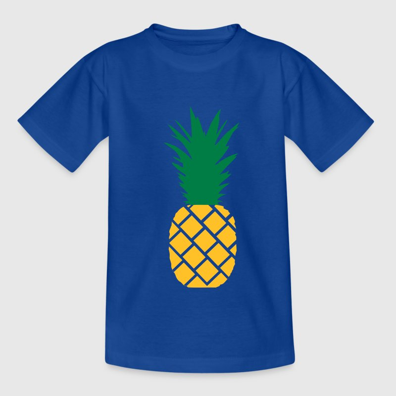 Royalblau Ananas Kinder T-Shirts - Teenager T-Shirt