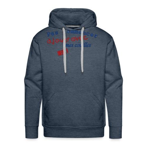 T-shirt Premium Homme Pas jouer avec mes couilles - Sweat-shirt à capuche Premium pour hommes