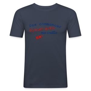 T-shirt Premium Homme Pas jouer avec mes couilles - Tee shirt près du corps Homme