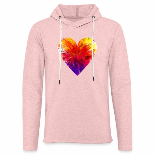 Herz aus Kristallen - Leichtes Kapuzensweatshirt Unisex