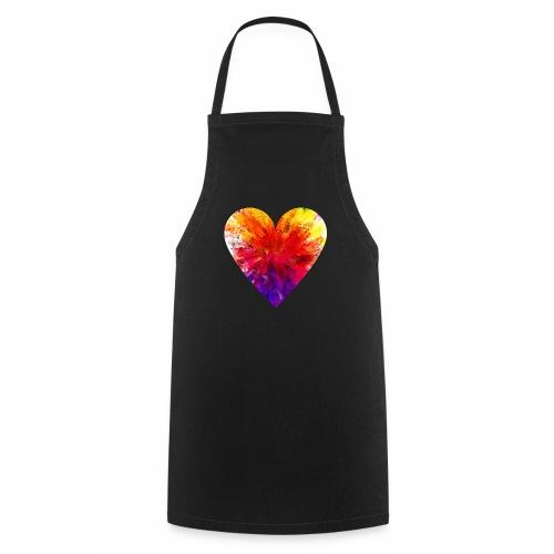 Herz aus Kristallen - Kochschürze