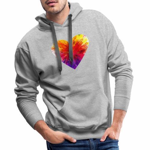 Herz aus Kristallen - Männer Premium Hoodie