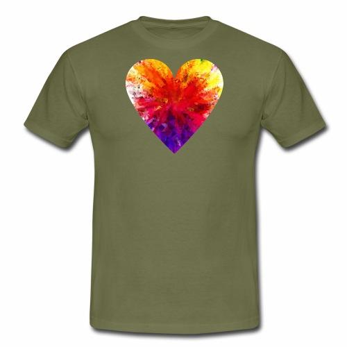 Herz aus Kristallen - Männer T-Shirt