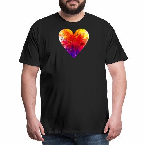 Herz aus Kristallen - Männer Premium T-Shirt