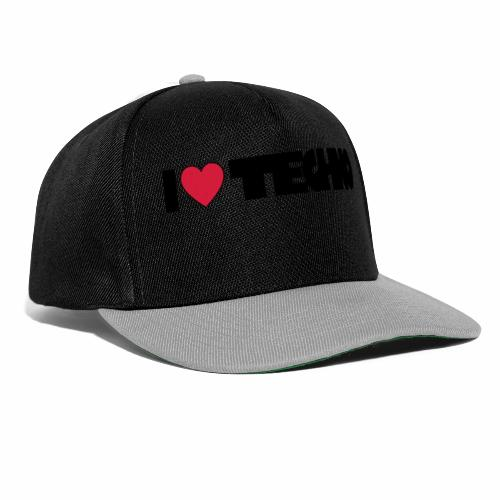 I love Techno - Snapback Cap