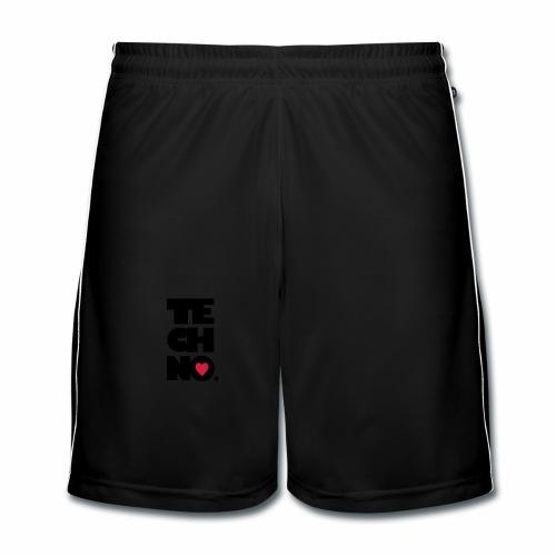 I love Techno - Männer Fußball-Shorts