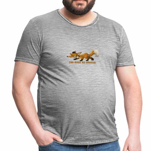 wuschiger Fuchs - Männer Vintage T-Shirt