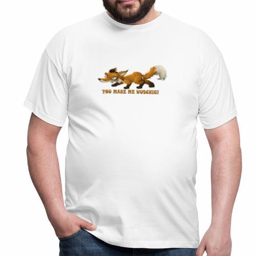wuschiger Fuchs - Männer T-Shirt