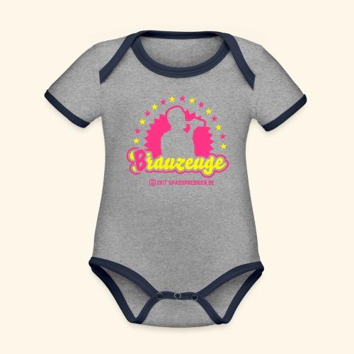 Brauzeuge - Baby Bio-Kurzarm-Kontrastbody