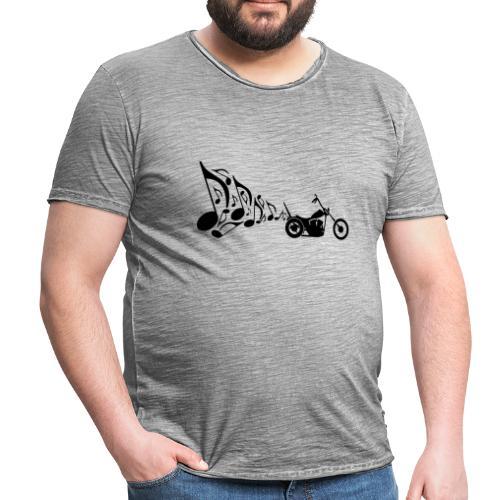 Escape moto Chopper. Música para los oídos - Camiseta vintage hombre