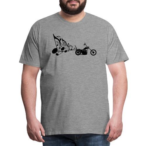 Escape moto Chopper. Música para los oídos - Camiseta premium hombre