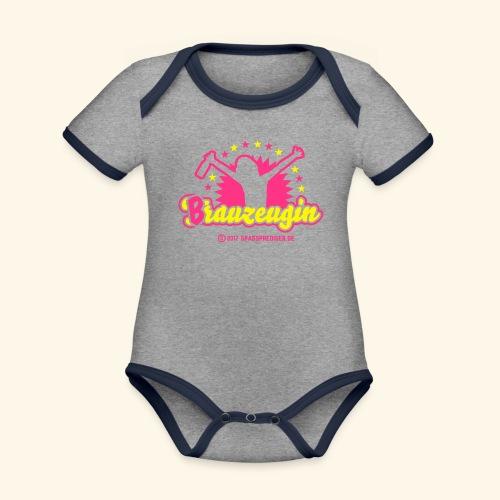 Brauzeugin - Baby Bio-Kurzarm-Kontrastbody