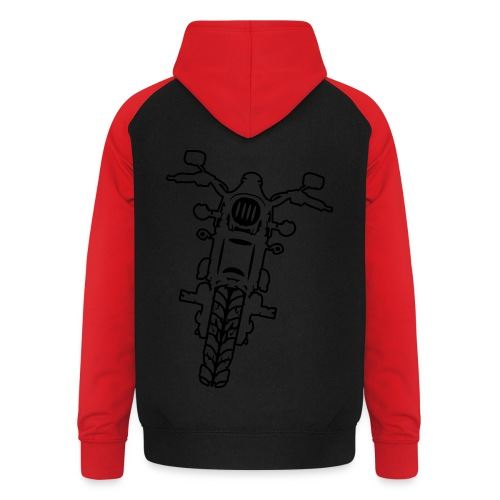 Camiseta Motera - Sudadera con capucha de béisbol unisex