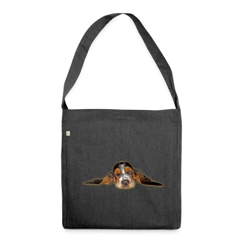 Wake up, Basset - Schultertasche aus Recycling-Material