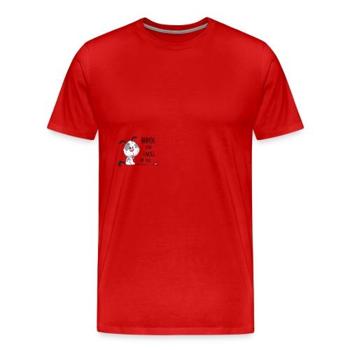 Hunde sind Engel - Männer Premium T-Shirt