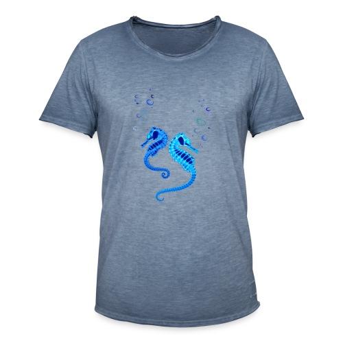 Seepferdchen - Männer Vintage T-Shirt