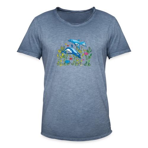 Delfine - Männer Vintage T-Shirt